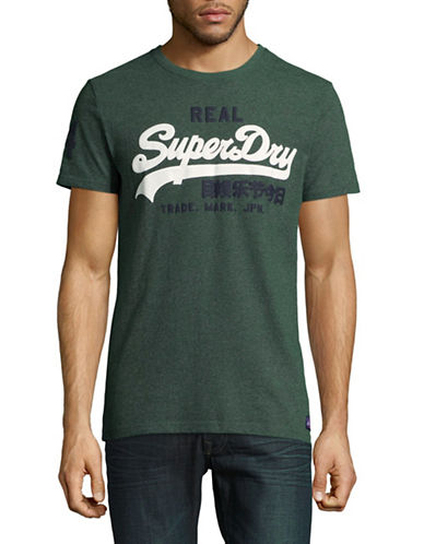 Superdry Vintage Logo Duo T-Shirt-GREEN-Medium
