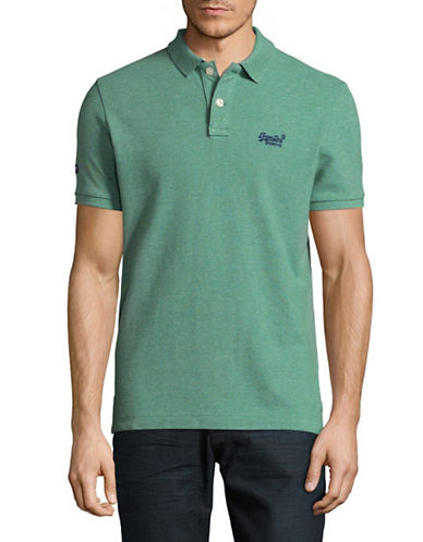 Superdry Classic Pique Polo-GREEN-Small
