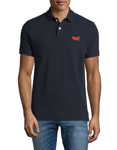 Superdry Classic Pique Polo-NAVY-Small