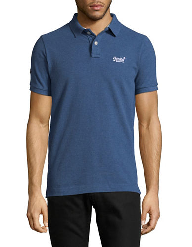 Superdry Classic Pique Polo-BLUE-X-Large