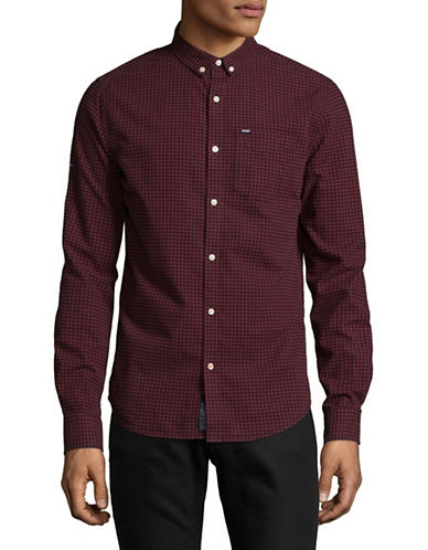 Superdry Check Cotton Sport Shirt-PURPLE-Medium