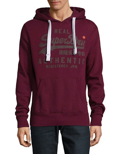 Superdry Vintage Authentic Hoodie-RED-Small