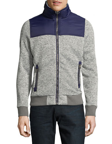 Superdry Storm Mountain Track Jacket-GREY-Medium