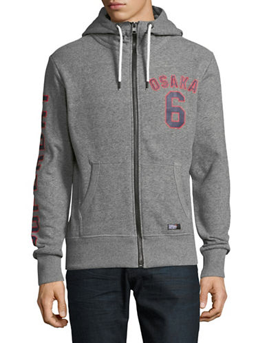 Superdry Osaka Zip Hoodie-GREY-Large