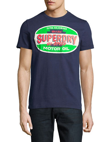 Superdry Reworked Classic Tee-BLUE-Small