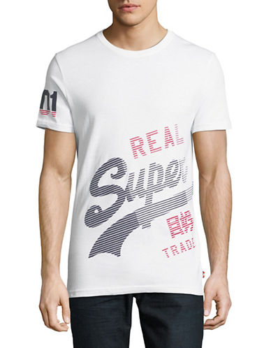 Superdry Vintage Logo Cotton T-Shirt-WHITE-X-Large