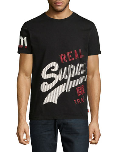 Superdry Vintage Logo Cotton T-Shirt-BLACK-Large