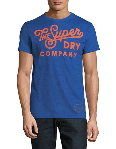 Superdry Premium Grade Cotton T-Shirt-BLUE-X-Large