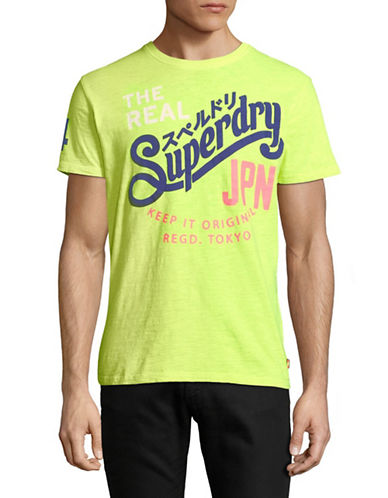 Superdry Keep It Tee-YELLOW-Large