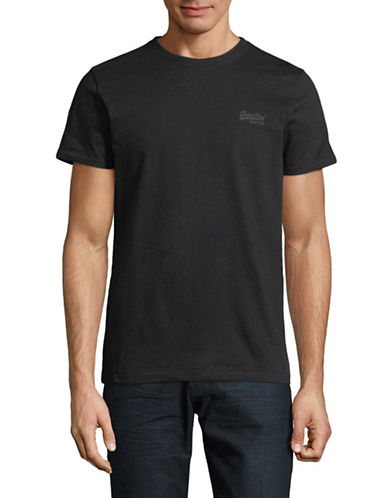 Superdry Label Urban Flash Cotton T-Shirt-BLACK-X-Large