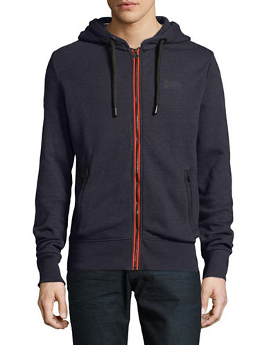 Superdry Urban Flash Hooded Zip-Up-BLUE-XX-Large