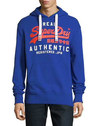Superdry Vintage Logo Authentic Duo Hoodie-BLUE-Large