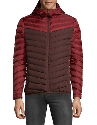 Superdry Chevron Colourblocked Down Jacket-RED-Small