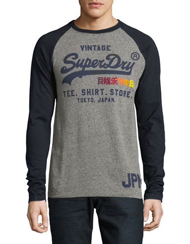 Superdry Raglan Sleeve Tee-GREY-X-Large