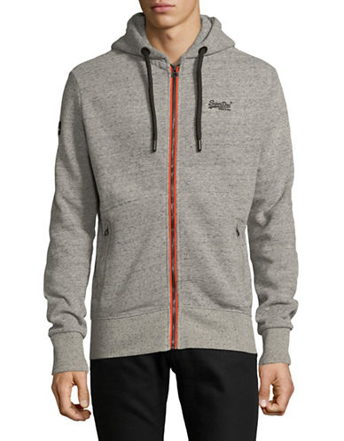 Superdry Urban Flash Hooded Zip-Up-GREY-X-Large