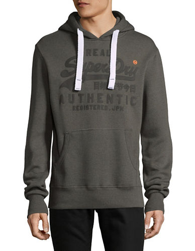 Superdry Vintage Authentic Hoodie-GREY-Small