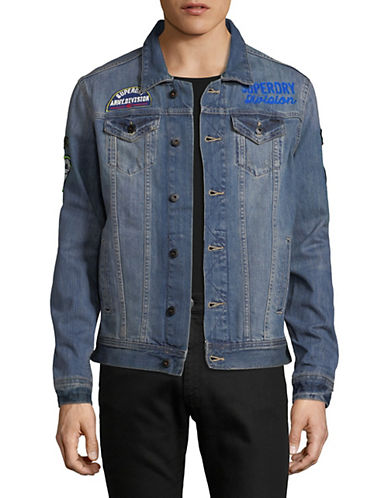 Superdry Rouge Patch Trucker Denim Jacket-BLUE-Small 90010977_BLUE_Small