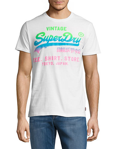 Superdry Vintage Logo Hyper Fade T-Shirt-WHITE-XX-Large 90010861_WHITE_XX-Large