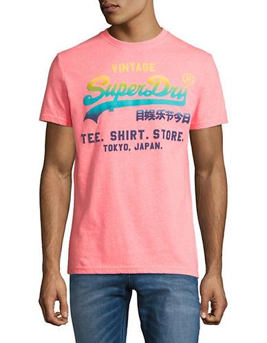 Superdry Vintage Logo Hyper Fade T-Shirt-PINK-X-Large 90010870_PINK_X-Large