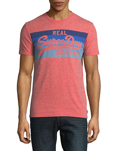 Superdry Vintage Logo Cali Stripe T-Shirt-RED-Medium 90010883_RED_Medium