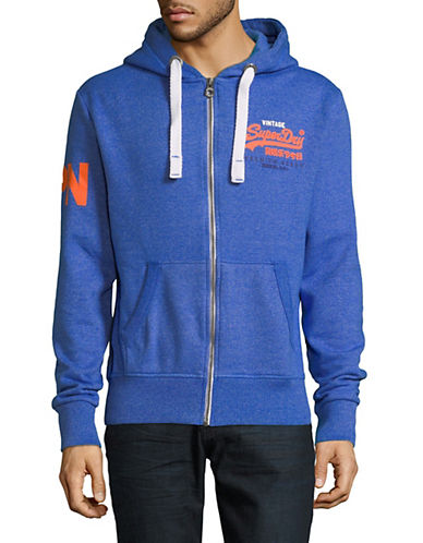 Superdry Premium Goods Zip Hoodie-BLUE-Small 89910351_BLUE_Small