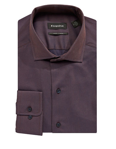 Esquire Textured Dress Shirt-RED-16.5-34/35