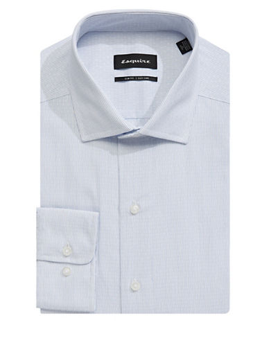 Esquire Dobby Cotton Dress Shirt-WHITE-17.5-34/35