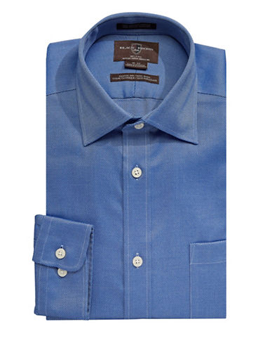 Black Brown 1826 Classic Fit Dress Shirt-BLUE-16-34