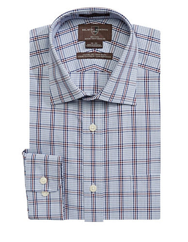 Black Brown 1826 Classic-Fit Cotton Dress Shirt-BLUE-17-33