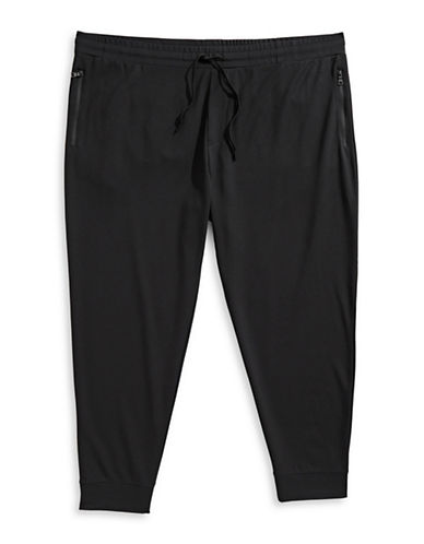 Black Brown 1826 Knit Pull-On Jogger Pants-BLACK-XX-Large 89691084_BLACK_XX-Large