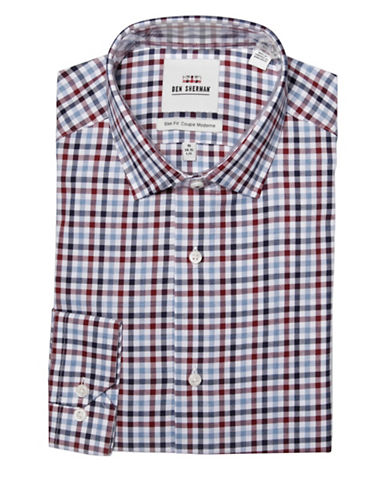 Ben Sherman Slim-Fit Multi-Twill Gingham Dress Shirt-MULTI-16.5-32/33