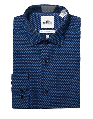 Ben Sherman Slim-Fit Floral Dress Shirt-NAVY-16-32/33