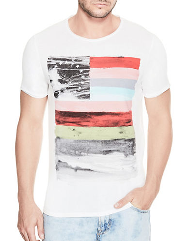 Guess Technicolour Flag Tee-WHITE-X-Large 89204950_WHITE_X-Large