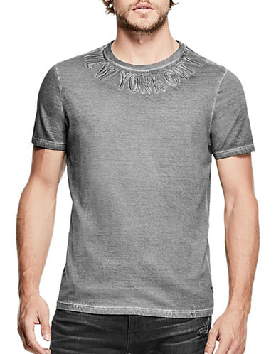 Guess Embroidered City T-Shirt-BLACK-Small