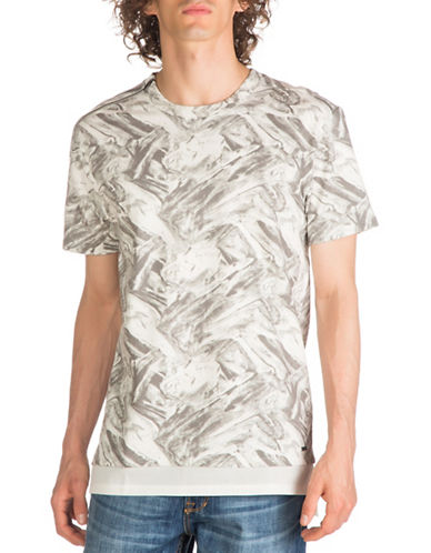 Guess Cyrus Terry Longline T-Shirt-GREY-Large