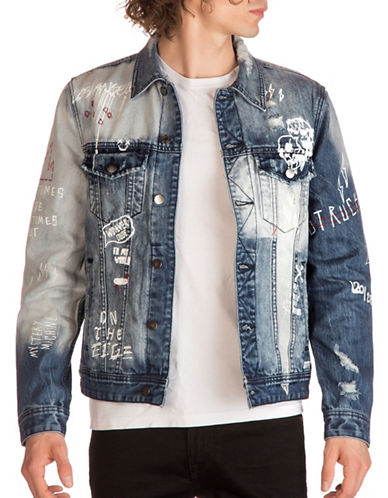 Guess Dillon Denim Jacket-BLUE-Large