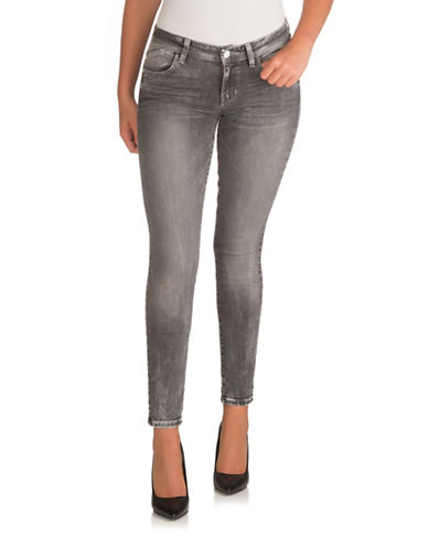 Guess Faded Low-Rise Skinny Jeans-LIGHT GREY-25