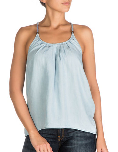 Guess Chambray Babydoll Top-SUPER BLEACH-Medium