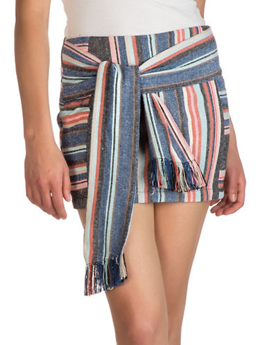 Guess Silas Mini Skirt-BORDERTOWN STRIPE MULTI-12