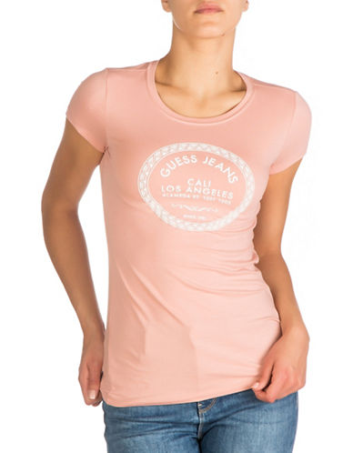 Guess Morrocan Tile Graphic Tee-ROSE TAN-Small