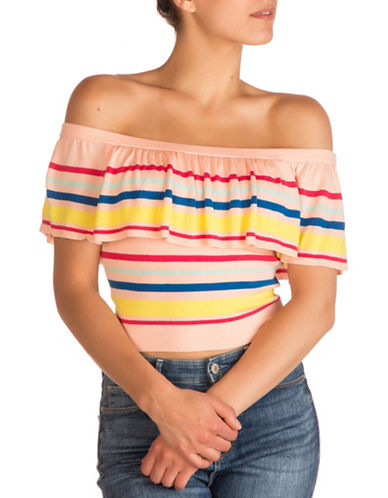 Guess Amina Off-the-Shoulder Top-TROPICAL-Medium