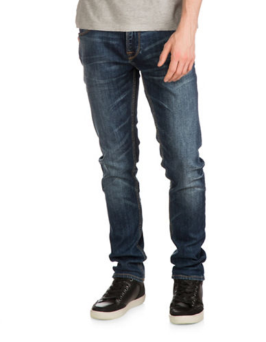 Guess Slim Tapered Jeans-BLUE-40