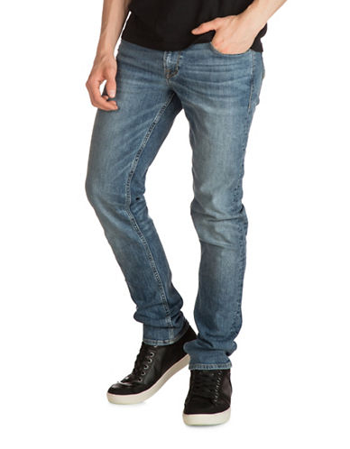 Guess Slim Tapered Jeans-BLUE-34X32