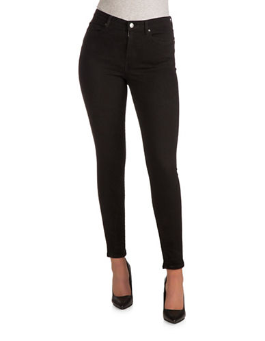 Guess 1981 High Rise Skinny Jeans-JET BLACK-28