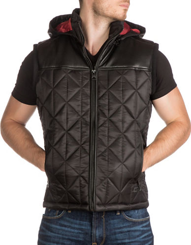 Guess Spence Quilted Vest-BLACK-XX-Large