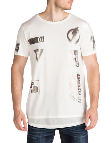 Guess Moto Stamp T-Shirt-WHITE-Medium