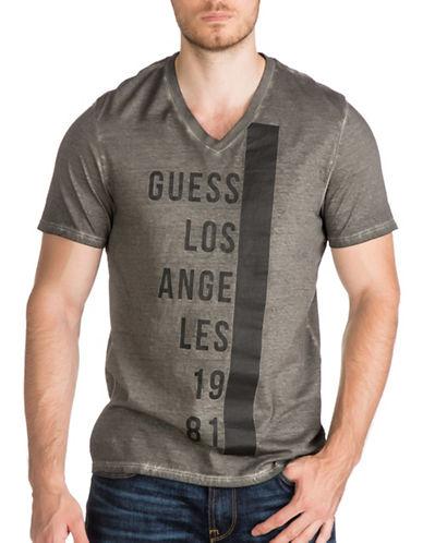 Guess Logo Cotton Shirt-BLACK-Large