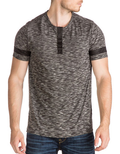 Guess Space Dye Henley-BLACK-XX-Large