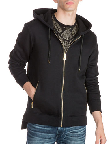Guess Beaded Crest Hoodie-BLACK-Small 89618211_BLACK_Small