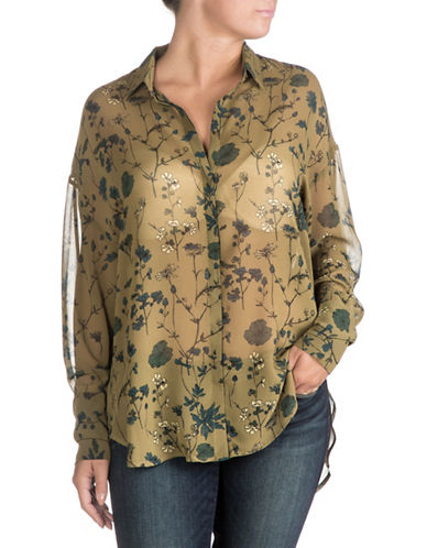 Guess Edyth Button-Down Shirt-FLORAL-Large